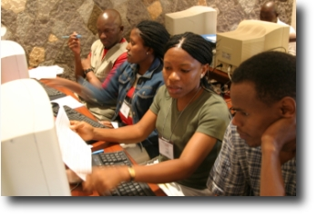 Students in the at AfNOG 7