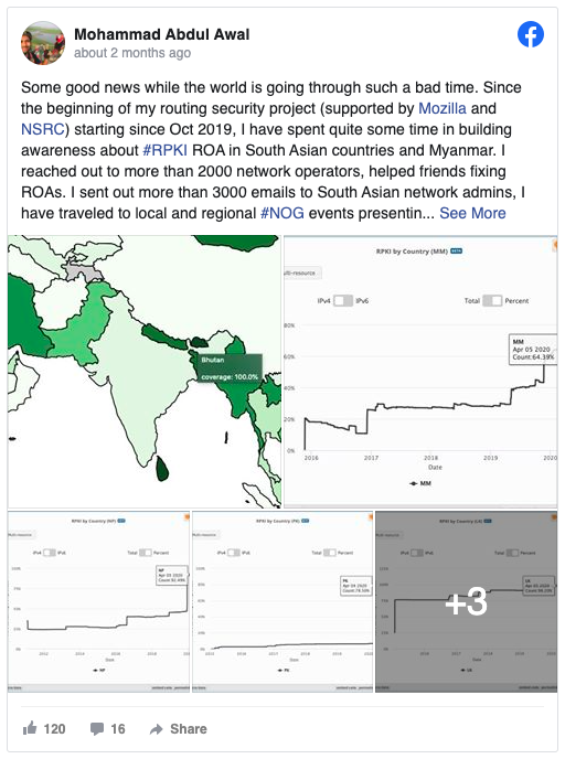 ROA/RPKI uptake in SE Asia improvements