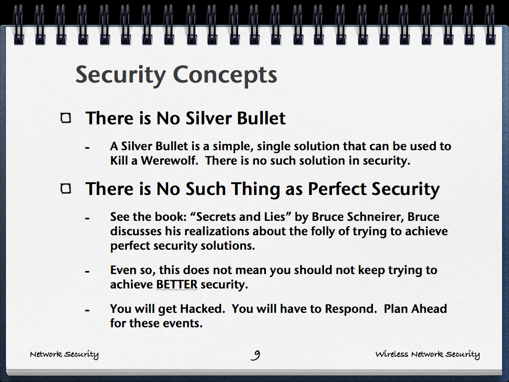 network security concepts essay Introduction to the core security concepts and skills needed for the installation  network security principles as well as the tools and configura-.