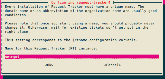Request Tracker (RT) Installation and Configuration
